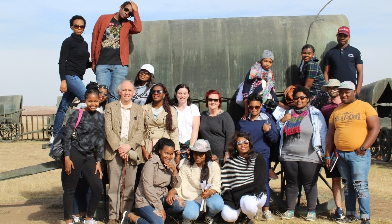 CCMS students and staff during their field trip to the KwaZulu-Natal Battlefields.