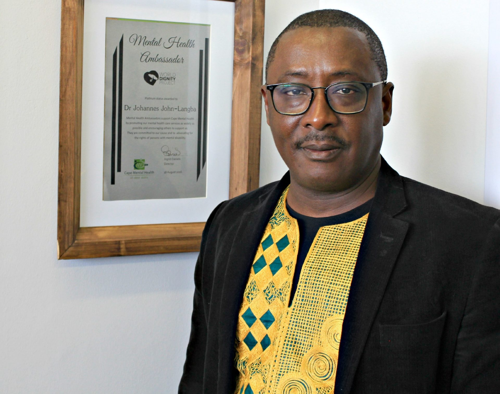 Professor Johannes John-Langba, Vice-President of Cape Mental Health.