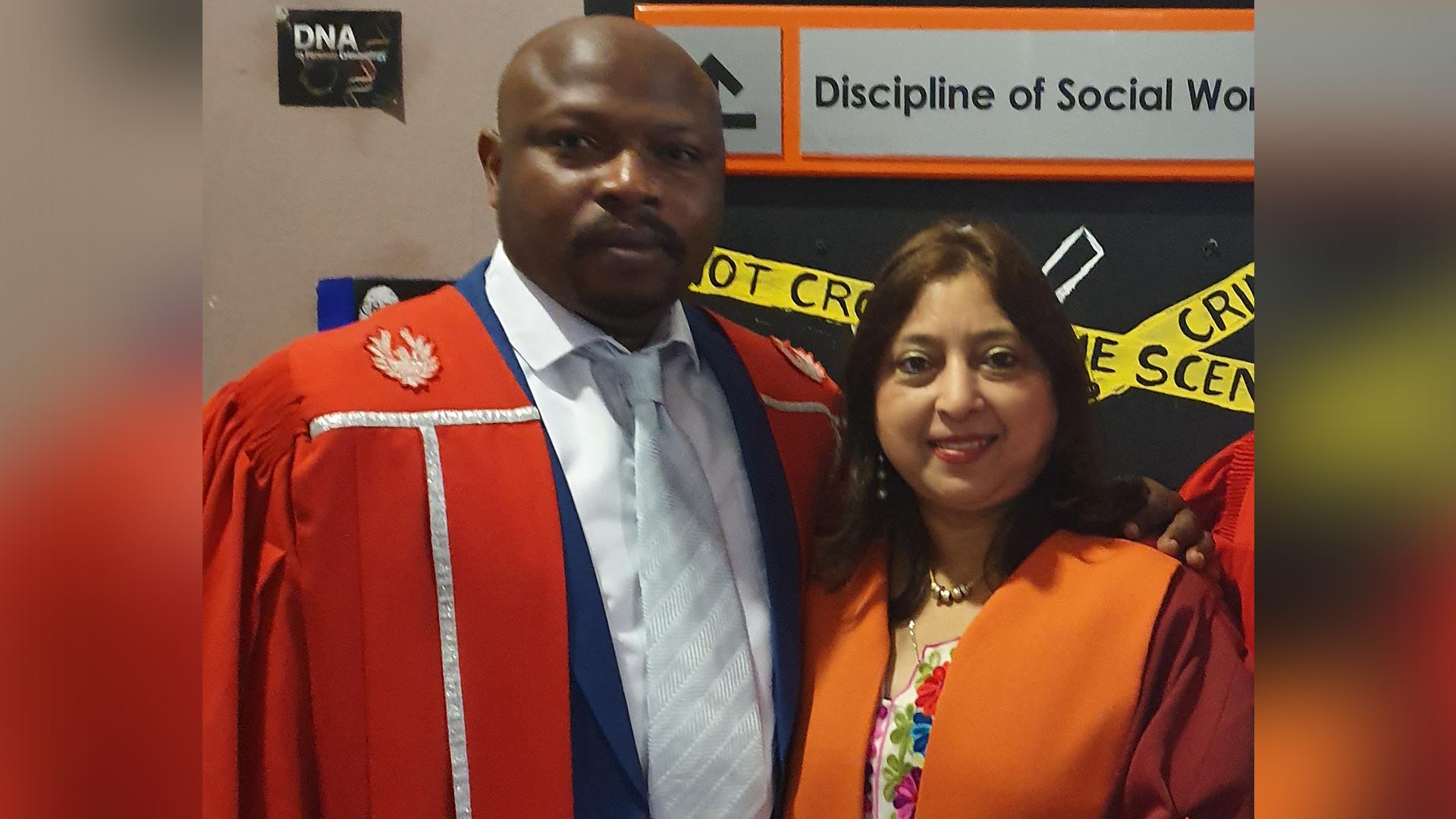 Dr Patrick Bashizi Bashige Murhula and Professor Shanta B Singh